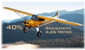 Grupp CarbonCub 40% gelb/silber RTF Ready to fly